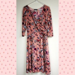 NEW Girly Spring Floral Pink 3/4 sleeve & buckle
